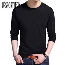 <b>URSPORTTECH Brand</b> New Men Tshirt Long Sleeve Cotton O Neck ...