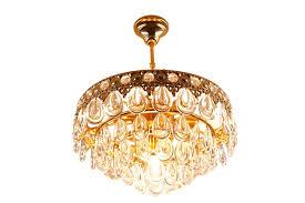 vintage teardrop crystal chandelier from palwa