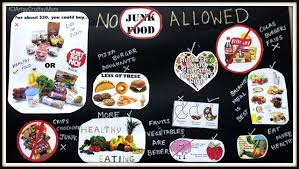 Junk Food Healthy Food Chart Say No To Junk Food Poster For School Artsy Craftsy Mom