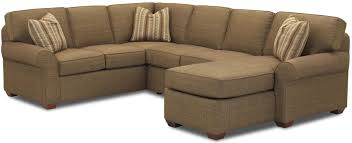 Sectional Sofa Group With Right Chaise Lounge By Klaussner Wolf - Chaise lounge living room furniture