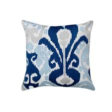 navy throw pillows. Contemporary Navy Crewel Embroidered Navy Blue Ikat 20 In Cotton Throw Pillow And Pillows