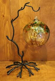 Blown Glass Ball Display Stand