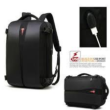 <b>coolbell large</b> anti theft laptop backpack travel bag +tsa lock + usb port