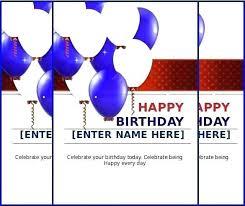 Free Download Greeting Card Birthday Card Template Free Download Happy Birthday Card Template