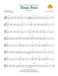 Music Spreadsheet Jingle Bells Free Sheet Music
