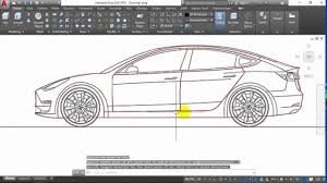 Car Design In Autocad 2d Autocad 2d How To Drawing Car In Auto Cad Part 1