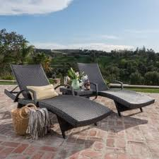 double chaise lounge outdoor furniture. peyton 3 piece chaise lounge set double outdoor furniture n