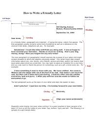 Friendly Letter Format Friendly Letter Format Inside Address New Friendly Letter Example