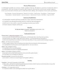 Resume Profile Examples For College Students Examples Of Resumes
