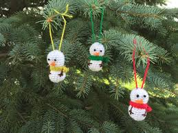 Crochet Decoration Patterns Skein And Hook Free Crochet Pattern Mini Snowman Ornament
