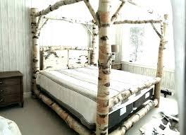 White Wood Canopy Bed Wood Canopy Bed Wood Canopy Bed Frame Bed ...