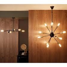 industrial 12 bulb sputnik chandelier