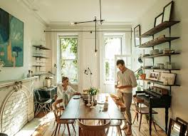 A quintessential Brooklyn dining room in the Cobble Hill home of ...