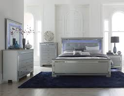 Silver Furniture Bedroom Allura 1916 Bedroom In Silver Tone By Homelegance W Options