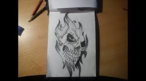 макс рисует 10 тату эскиз череп 1