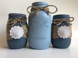 Decorating Mason Jars Painted Mason Jars Mason Jar Set Rustic Mason Jars Shabby Chic