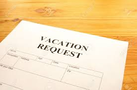 vacation request form in business office showing holiday concept stock photo vacation request form in business office showing holiday concept