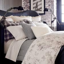 ralph lauren hoxton ainslie fl cream gray one king duvet cover 100 cotton