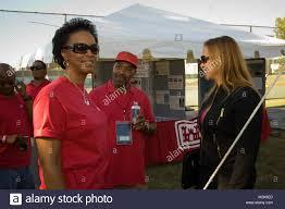Norfolk District employees Ava Benson (left) and Gregory Headen talk Stock  Photo - Alamy