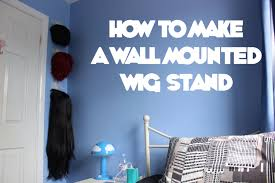 how to make a wall mounted wig stand