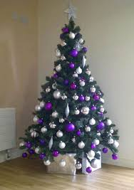 ... Comfortable Pink And Purple Christmas Tree Decorations Tittle ...