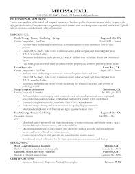 Ultrasound Resume Diagnostic Medical Samples Hall Thumbnail 4 ...