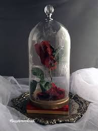 diy beauty and the beast enchanted rose in a cloche suzyhomemakeruk