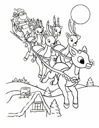 44 Printable Santa Coloring Pages Santa And Sleigh Coloring