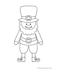 Shamrocks, rainbow and pot of gold. Saint Patrick S Day Free Printable Coloring Pages Weheartholidays Com
