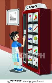 Vending Machine Clipart Fascinating Clip Art Vector Kid Buying Candy From A Vending Machine Stock EPS
