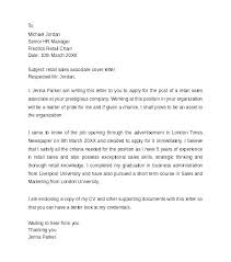 Example Of Cover Letter For Retail Job How To Make A Cover Letter For A Retail Job