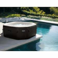 intex 28456 bubble jet deluxe inflatable hot tub spa full optionals