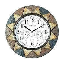 decoration giant outdoor wall clock clocks for and thermometers bed bath beyond in hanging