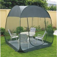 Multiple Room Tents Green Color Pop Up Screen Room Large Mosquito Net Tent With Floor
