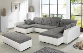 Wohnlandschaft Weiß Grau Günstig Sofa Couches