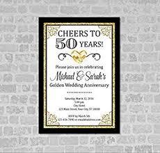 golden wedding anniversary invitation gold digital glitter 50th anniversary invitation golden anniversary