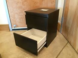 Dark Ikea Nightstand With Two Drawers On Cozy Masland Carpet For Office  Storage Design Plus Mirror Nightstand Ikea Also Ikea Black Nightstand