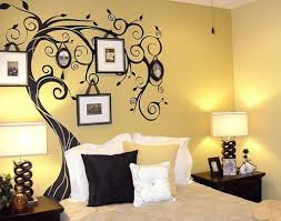wall painting designsSimple Bedroom Wall Paint Designs Inspirations Also Incredible
