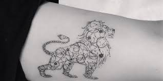 lioness with crown tattoo. Beautiful With Lion Tattoo With Lioness Crown Tattoo H