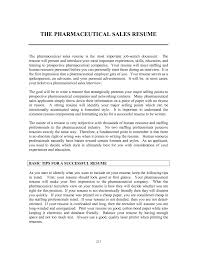 Resume Resume Templates Pharmaceutical Sales Template For
