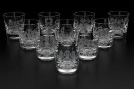 licensed one piece crystal glasses sold under the brand name ookaze no okorusama these cups feature original ilrations of the characters from