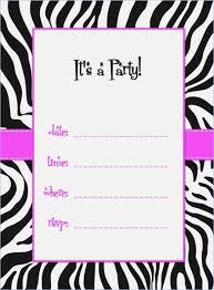 Free Templates For Invitations Birthday free printable zebra birthday invitation templates brandhawaiico 17