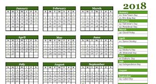 Absentee Calendar Free 2018 Yearly Calendar Pdf Word Excel Templates Calendar Office
