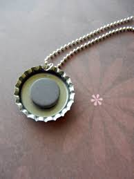 magnetic bottle cap necklaces how to make
