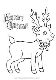 Baby Reindeer Coloring Pages Free Printable Reindeer Coloring Pages