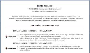 Curriculum Vitae Em Portugues Filename My College Scout