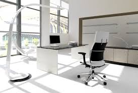 white office furniture. White Modern Commercial Office Furniture Ideas With