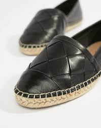 aldo black leather espadrilles view fullscreen