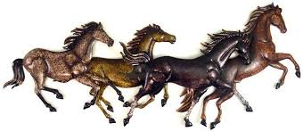 on metal horses wall art with running horses sculpted metal wall art