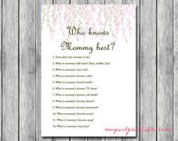 Famous Mothers Baby Shower Game